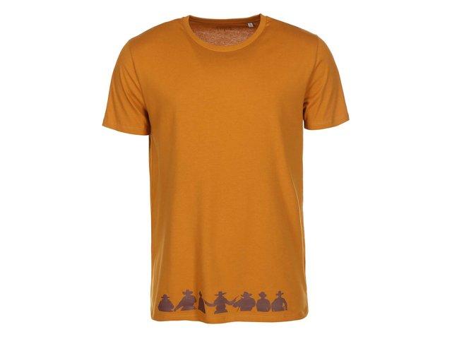 Hnědé pánské triko ZOOT Originál Sedm statečných