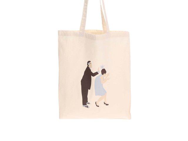 Krémová plátěná taška ZOOT Originál Maminko