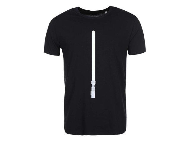 Černé pánské svítící triko ZOOT Originál Světelný meč