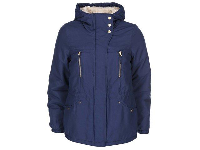 Tmavě modrá kratší parka s kapucí Vero Moda One