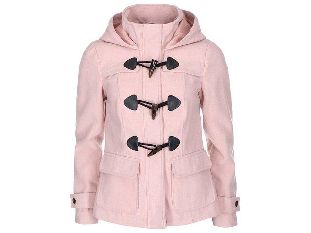 Růžový kratší kabát s kapucí Vero Moda Mella