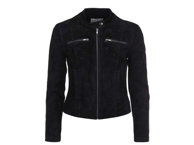 Černá kožená bunda Vero Moda Nilas