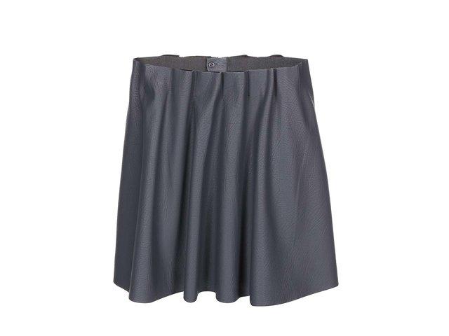 Tmavě šedá koženková sukně Vero Moda Louise