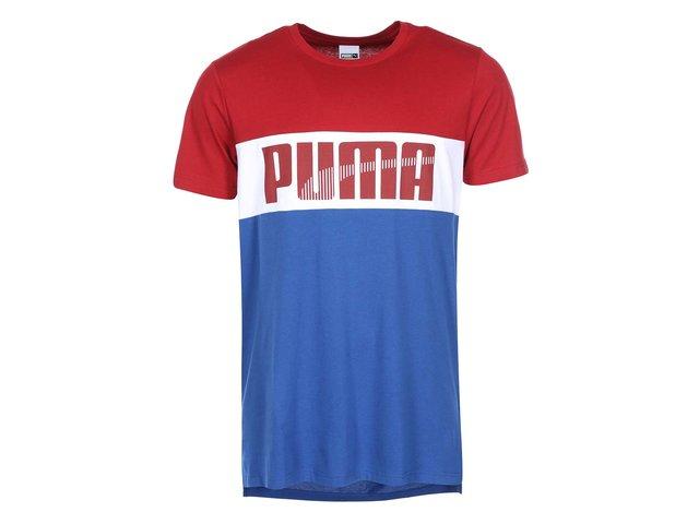 Červeno-bílo-modré pánské triko Puma Game Tee