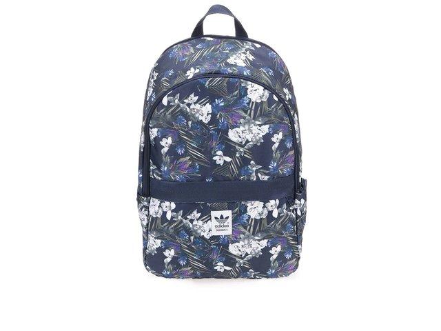 Modrý batoh s květinovým vzorem adidas Originals