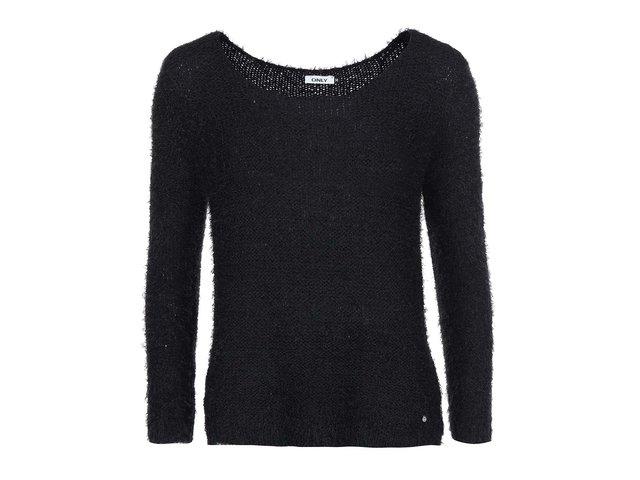 Černý chlupatý svetr ONLY Perfect