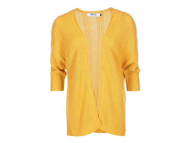 Žlutý cardigan s 3/4 rukávy ONLY Tami