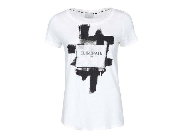Bílé tričko s potiskem ONLY Julia Eliminate
