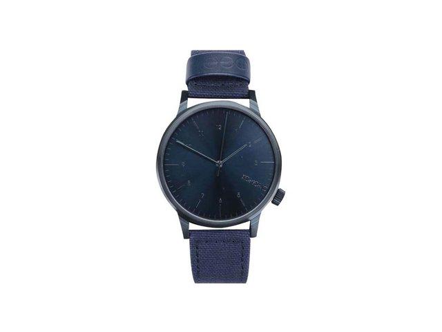 Tmavě modré unisex hodinky Komono Winston Heritage