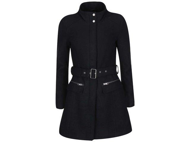 Černý kabát s páskem ONLY Alanis