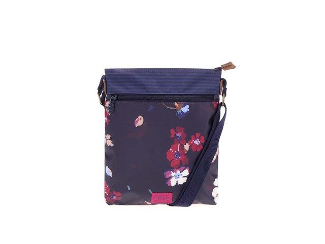 Tmavě fialová kabelka přes rameno s barevnými květy Tom Joule Oriel