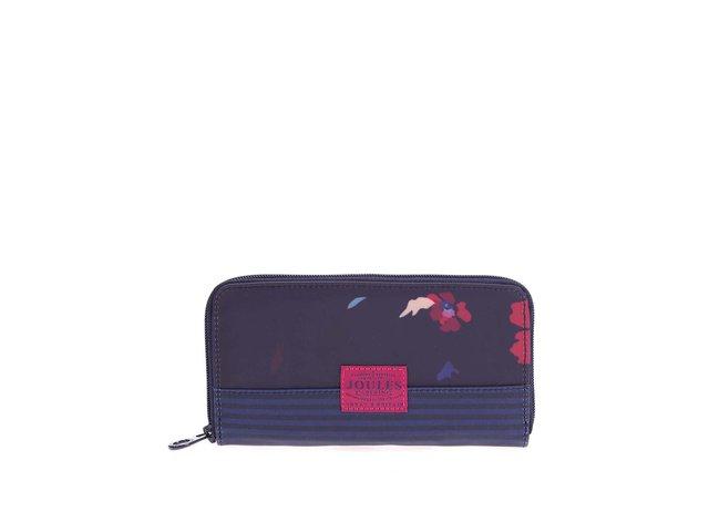 Tmavě modrá peněženka s barevnými květy Tom Joule Wolfson