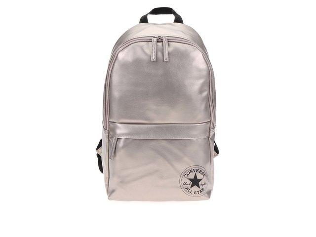 Béžový koženkový batoh se zlatými odlesky Converse Backpack