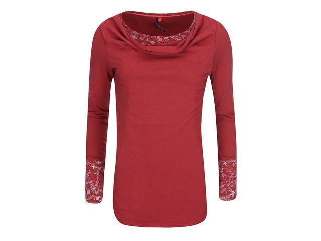 Červené dámské tričko s dlouhým rukávem Ragwear Zimt