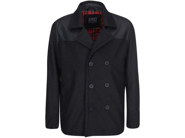 Černý kabát D-Struct Parlour