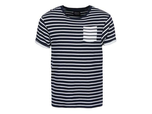 Tmavě modré pruhované triko D-Struct Dexter