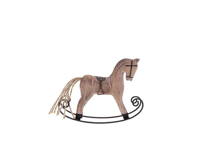 Dřevená dekorace ve tvaru houpacího koníka Dakls