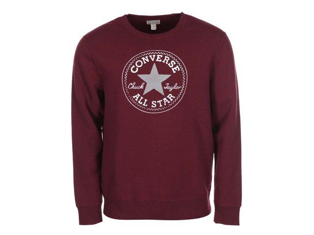 Vínová pánská mikina s logem Converse