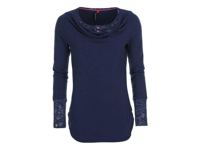 Tmavě modré dámské tričko s dlouhým rukávem Ragwear Zimt