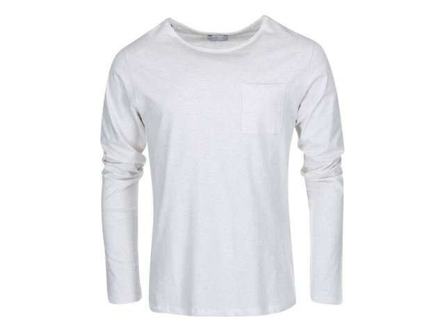 Světle šedé triko s kapsou Selected Prima Florence