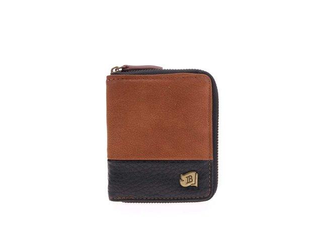 Černo-hnědá peněženka Icon Brand Something Simple