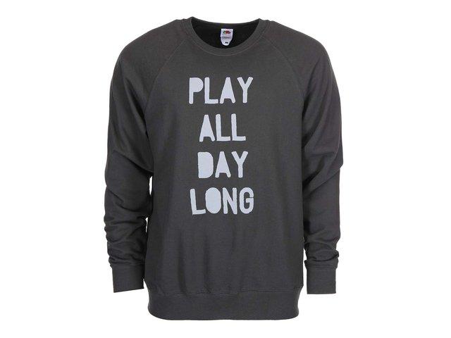 Šedá pánská mikina ZOOT Originál Play All Day Long