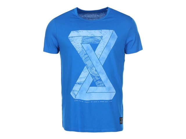 Modré triko s potiskem Jack & Jones Well