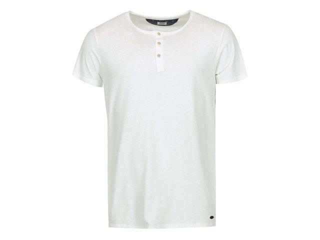 Krémové triko s knoflíky Jack & Jones Ross