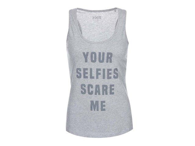 Šedé dámské tílko ZOOT Originál Your Selfies
