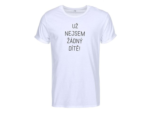 Bílé pánské triko ZOOT Originál Už nejsem žádný dítě
