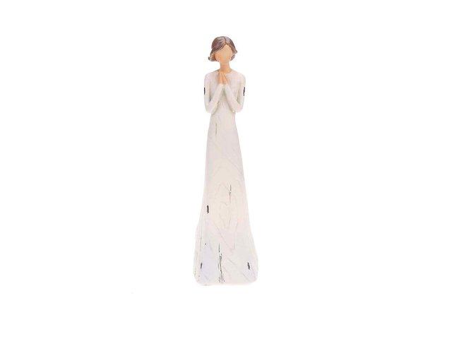 Krémová soška ženy Dakls