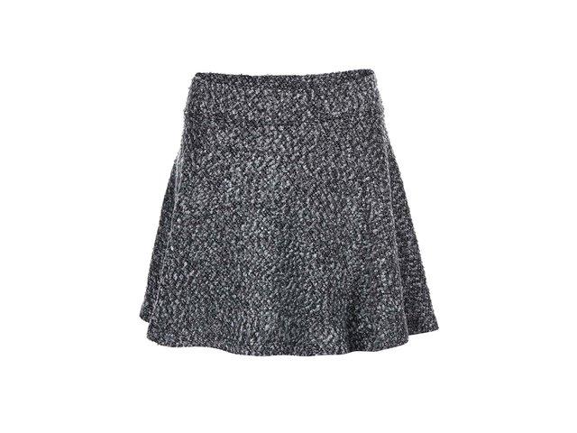 Tmavě šedá áčková sukně ONLY Burcle