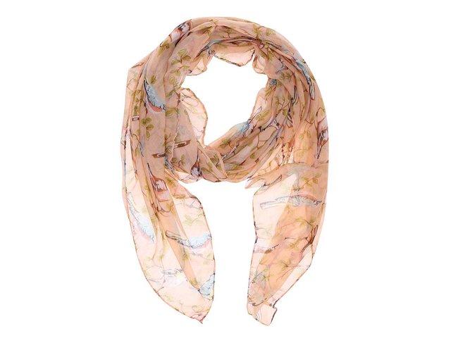 Korálový šátek se vzorem ptáčků Joe Cool