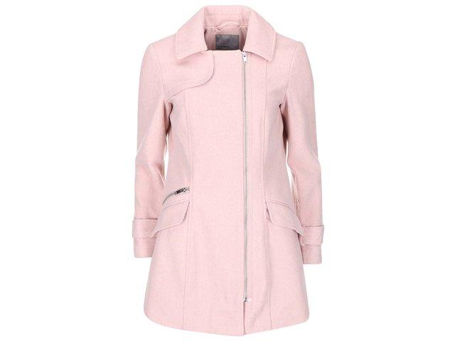 Růžový kabát se zipem Vero Moda Nille Daisy