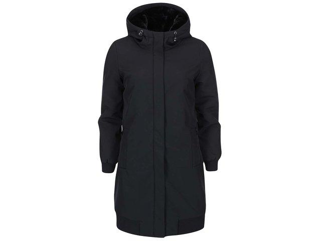 Černá dlouhá bunda s kapucí Vero Moda Clean