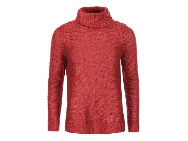 Červený svetr s rolákem Vero Moda Celeste