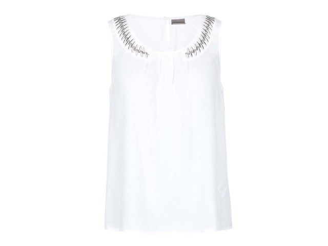Bílý top Vero Moda New Bead