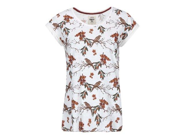 Krémové dámské tričko s potiskem Bellfield Staveley