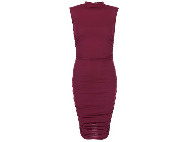 Fialové šaty s nařasením AX Paris
