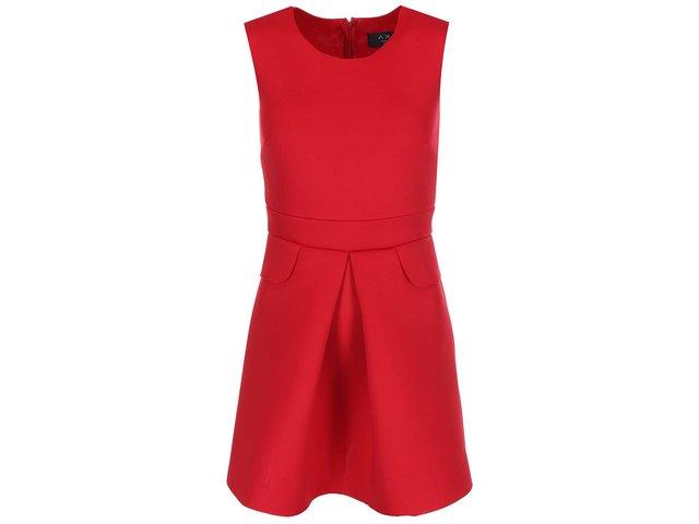 Červené šaty se zipem na zádech AX Paris