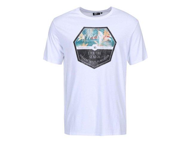 Bílé pánské triko s potiskem