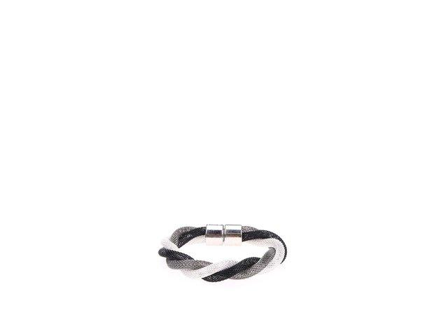 Proplétaný náramek ve stříbrno-šedé barvě Joe Cool