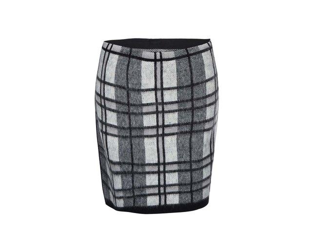 Černá kostkovaná sukně Vero Moda Shanna