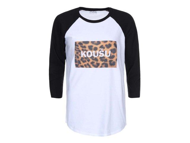 Černo-bílé dámské tričko THE BLONDIEVERSE Koušu