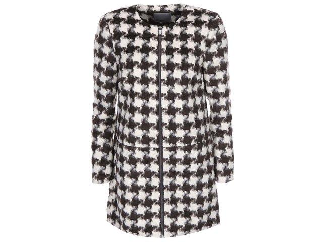 Hnědo-krémový kabát s kohoutí stopou Vero Moda Edition