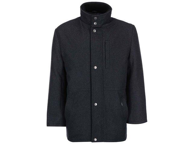 Tmavě šedý kabát Seven Seas Douglas