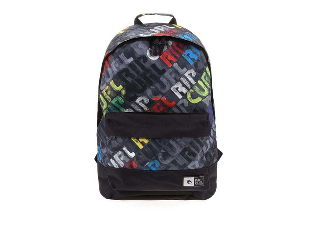 Černý batoh s potiskem Rip Curl Dome Mamafont