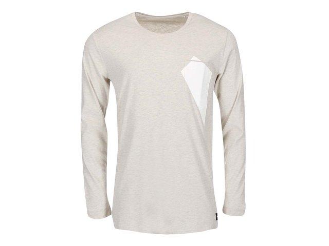 Béžové triko s dlouhým rukávem ONLY & SONS Niles