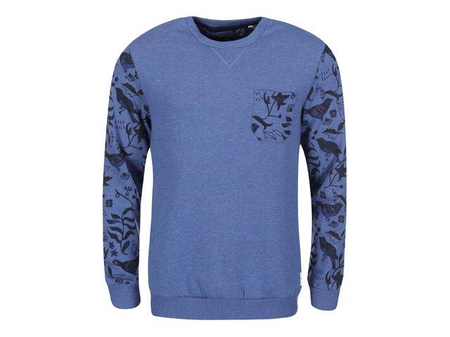 Modrá mikina se vzorovanými rukávy ONLY & SONS Dwain
