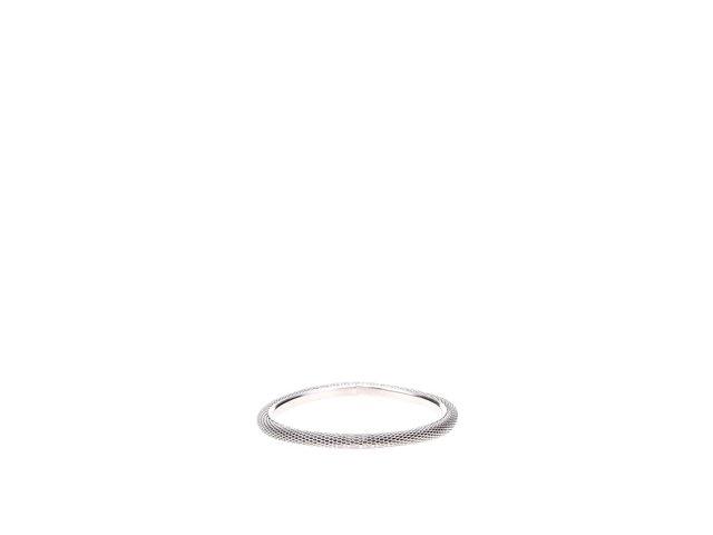 Šedý kulatý náramek s vroubkovaným povrchem Joe Cool